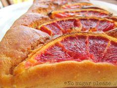 No sugar please...: Plum cake alle arance rosse