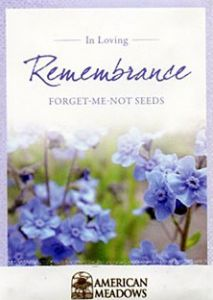 Cremation Memorial - 'Forget-Me-Not' Remembrance Seeds -