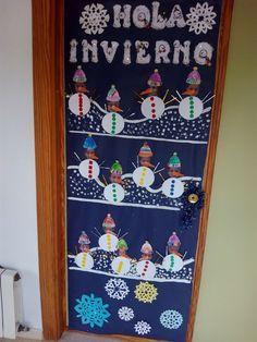 puertas invierno - Buscar con Google Christmas Door, Christmas Crafts, Christmas Decorations, Holiday Decor, Classroom Door, School Art Projects, Summer Crafts, Preschool Crafts, Google