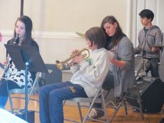 Tamarack's Jazz Ensemble performing for grandparents on Grandparent's Day.