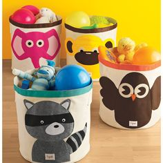 Cutests dang toy storage EVER. Want to buy one for everyone I know with kids! The Container Store > Owl Canvas Bin Childrens Toy Storage, Toy Storage Bins, Toy Bins, Kids Storage, Storage Baskets, Storage Ideas, Owl Canvas, Elephant Canvas, Cute Canvas