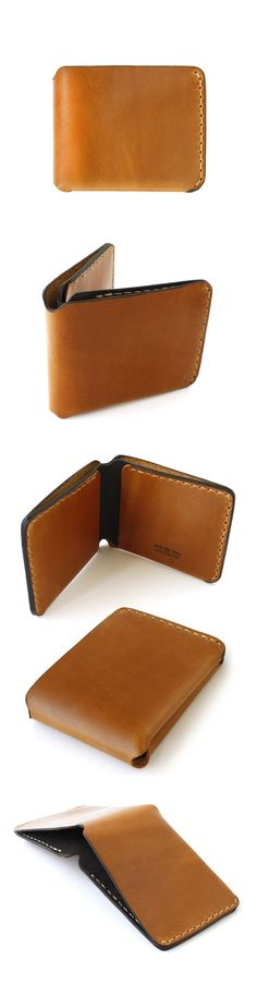 Handcrafted Bifold Wallet. London Tan