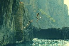 Girls jumping from a rock into the sea, Sa Calobra, Mallorca, Spain | Flickr - Photo Sharing!