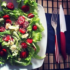 Salad in red