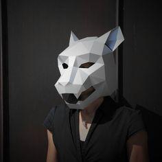 Máscara de Jaguar  construir su propia de la tarjeta by Wintercroft | Etsy