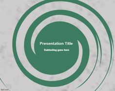 Spiral PowerPoint Template with creative background design #PowerPoint #templates