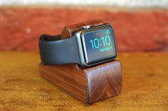 Apple Watch Stand The RIPPLE in Walnut Hides by SchuttenWorks
