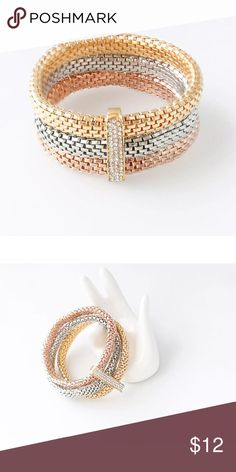 Chain & Link Bracelets F&u Gold And Silver Color Rhinestone With Bowknot Shaped Zinc Alloy Popular Fashion Style Chain Bracelet Jewelry & Accessories