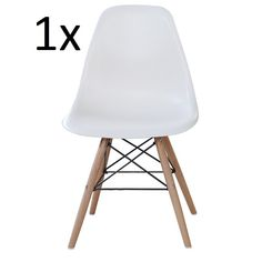 P&N Homewares® Moda Dining Chair Plastic Wood Retro Dining Chairs White Modern Furniture (1 CHAIR): Amazon.co.uk: Kitchen & Home