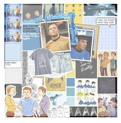 """""""To boldly go where no one had gone before // Kirk // Spock // Bones // Star Trek // The Original series"""" by saffire9975 ❤ liked on Polyvore featuring Larke, Seed Design, PAM, Chicnova Fashion, Linum Home Textiles, Chanel, Old Navy, bones, kirk and startrek"""