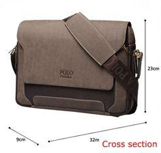 Men messenger bags polo 2016 leather briefcases men crossbody bag for men luxury handbags men bags designer office shoulder bags