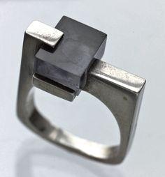 Constructivist French ring - c. 1965