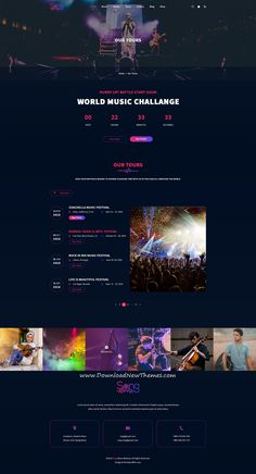 Sing is clean and modern design template for party organization and be Design Sites, Web Design Websites, Page Design, Ux Design, Graphic Design, Event Website, Website Themes, Website Ideas, Website Design Layout