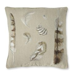 Embroidered Feather Pillow Cover #williamssonoma