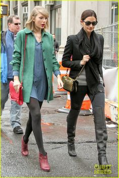 Taylor Swift heads out for lunch with her friend Lily Aldridge in New York