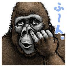 大猩猩 大猩猩 - LINE 個人原創貼圖