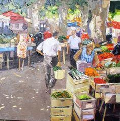 André Deymonaz (French, b. 1946) - Au marché