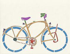 Bike Art by Janet Bike Girl, via Flickr