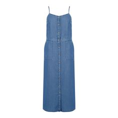 Warehouse, Strappy Button Column Dress MWAS 0