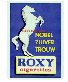 R96 SINGLE swap playing cards CIGARETTES SMOKING AD white horse Roxy
