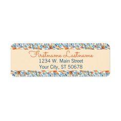 Artsy Summer Colors Paint Splatter Pattern Label - pattern sample design template diy cyo customize
