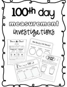 Day Measurement Investigations ~ LOVE it! Measurement Activities, Math Measurement, Math Activities, Holiday Activities, 100 Days Of School, School Holidays, School Fun, February Holidays, January