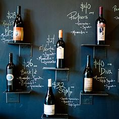 blackboard paint walls and use then as the menu saves money on reprinting when stock/prices change