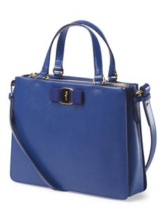 In Love With This Blue Structured Leather Satchel Handbags Unique Purses