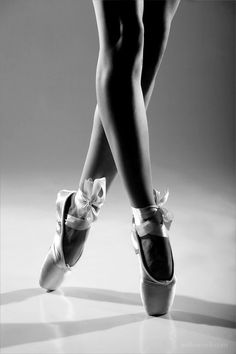 on pointe..