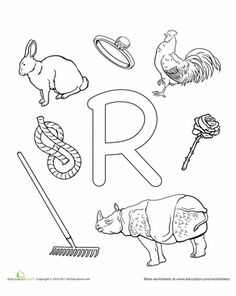 """letters"" Worksheets: R is for..."