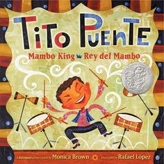The award-winning duo of author Brown and artist Lopez hit all the right beats in this vibrant bilingual picture-book biography that portrays the musical and cultural phenomenon of Tito Puente, Mambo King! Full color. In this vibrant bilingual picture book biography of musician Tito Puente, readers will dance along to the beat of this mambo king's life. Tito Puente loved banging pots and pans as a child, but what he really dreamed of was having his own band one day. From Spanish Harlem to the Gr Sonia Sotomayor, Hispanic Heritage Month, Music Classroom, Future Classroom, Classroom Ideas, Elementary Music, Music Lessons, Art Lessons, Music Education