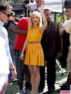 Nicole wearing sunny yellow.