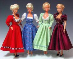 Dirndl und Trachten für Puppen und Dolls - Puppendirndl und Puppentrachten - Magazin für Puppensammler und Sammlerpuppen - Barbie, Ken und Fashion Royalty