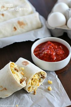 Freezer Breakfast Burritos are the best breakfast for busy people! Fix up a batch (so easy!) and throw in the freezer. When you're rushed to get…