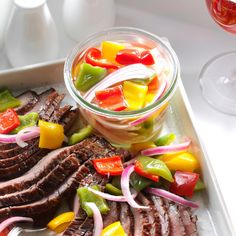 Pickled Bell Peppers Recipe -Everyone around here knows me for this colorful, tasty dish. I serve the peppers with a lot of meals and other times I'll turn it into a salad for a weeknight cookout. —Heather Prendergast, Sundre, Alberta