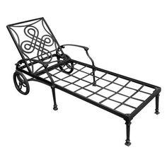 Vienna Cast Aluminum Outdoor Chaise Lounge Chair - Antique Bronze