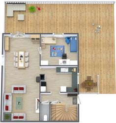 Click LIKE when you find the *soccer ball* on this 3D floor plan with indoor & outdoor elements! :)  Designed in RoomSketcher Business Edition by nonparel, Roomsketcher user