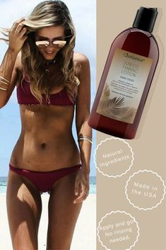 40358e5df6 A sunless tanner for that dark natural color you deserve. Plus