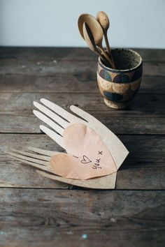Wabi Sabi handmade valentines card DIY via The House That Lars Built :)
