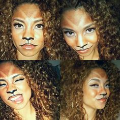 My version of a lion this Halloween, cant see my full mane in these pictures but it was HUGE!(: loved it