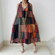 interesting dress (not sure the squares are for me) - but style is comfort