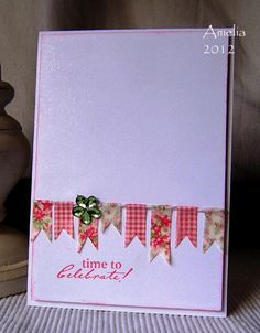 Washi tape banner card by breytenbach.amelia, via Flickr
