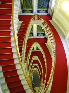 Stunning depictions of Staircases - Part 4 - The Grand Staicase inside Bristol Palace Hotel in Genoa.