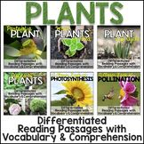 Differentiated Plants Reading Passages, Vocabulary & Compr
