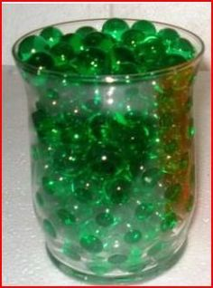 $2.99  Amazon.com: *(Promotion - Buy 3 Get 1 Free) 14 Gram Package - Deco Water Beads - Colorful Vase Filler & Centerpiece, Wedding Favors & Unlimited Uses & Create Your Own Candle Holders (Original Green): Home & Kitchen