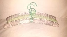 Vintage Satin Covered Hangers, Set of 3,Fabric Hangers,Padded Hangers,Green, Purple,Shabby,Cottage Chic,Lingerie Hangers, Wedding,Bridemaids by JunkYardBlonde on Etsy #satinhangers #lingeriehangers #vintageclothhangers #wedding #bridemaids #green #purple #lavendar #mintgreen