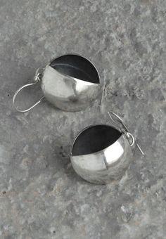 silver modern geomertic dangle earrings by juli711 by Juli711
