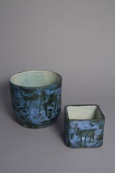 Two sgraffito ceramic vases by Jacques Blin « Jon Howell Antiques and Design