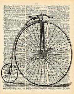 Vintage Dictionary Print Penny Farthing by missquitecontrary, $10.00