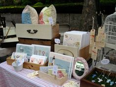 Nothing Sketchy: Market Stall Inspiration Old drawers are a great idea for storing stock